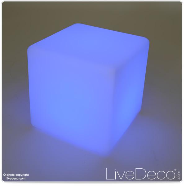 cube lumineux led livedeco hd1. Black Bedroom Furniture Sets. Home Design Ideas