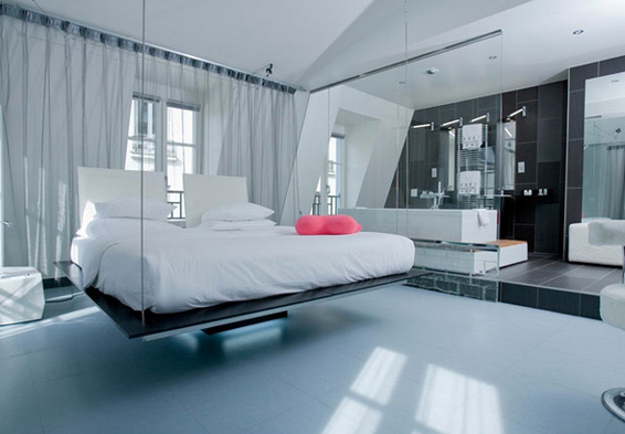 Kube hotel paris for Chambre d hotel design