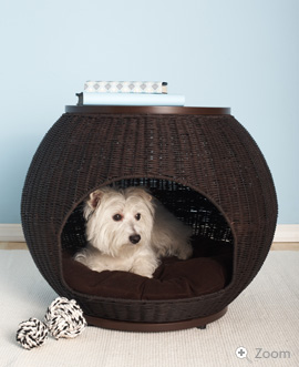 panier igloo osier chien. Black Bedroom Furniture Sets. Home Design Ideas