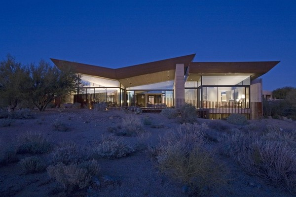 Villa contemporaine dans le d sert d 39 arizona - Villa decor desert o architecture ...