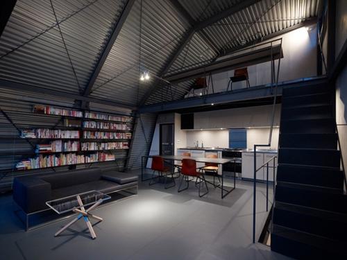amenagement loft. Black Bedroom Furniture Sets. Home Design Ideas
