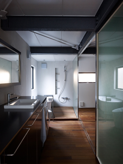 decoration salle de bain loft. Black Bedroom Furniture Sets. Home Design Ideas