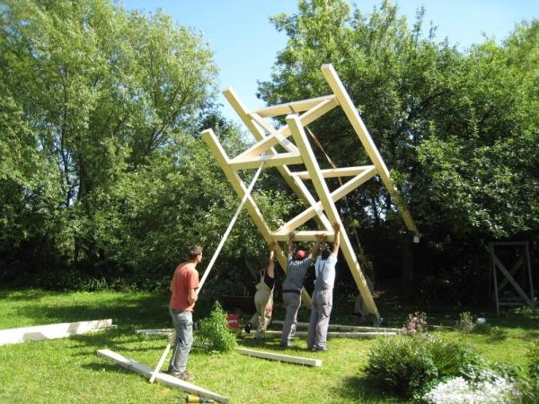 structure cabane bois. Black Bedroom Furniture Sets. Home Design Ideas