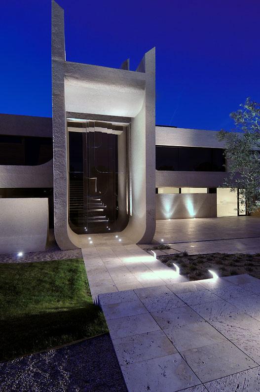 Eclairage exterieur villa for Architecture exterieur