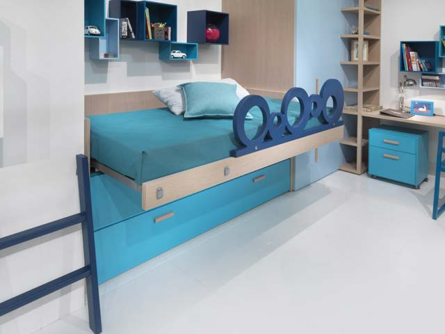 chambre enfant dearkids avec lit mi haut. Black Bedroom Furniture Sets. Home Design Ideas