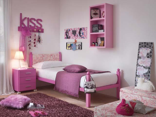 chambre enfant dearkids rose et blanche. Black Bedroom Furniture Sets. Home Design Ideas