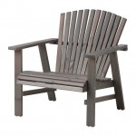 Chaise de jardin style adirondack version ikea for Fauteuil bras tablette ikea