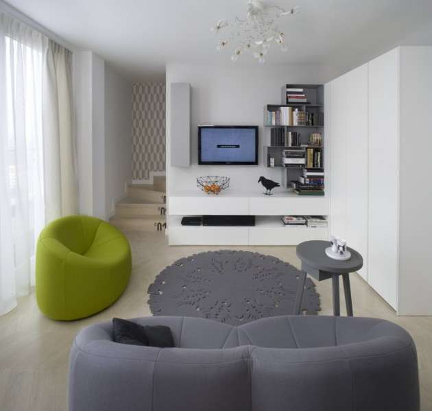 d coration d 39 un appartement en duplex. Black Bedroom Furniture Sets. Home Design Ideas