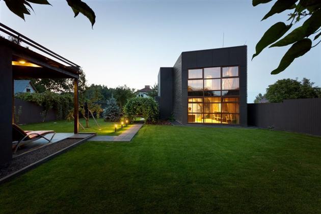 Superbe r sidence contemporaine deux tages - Architecture contemporaine residence parks ...
