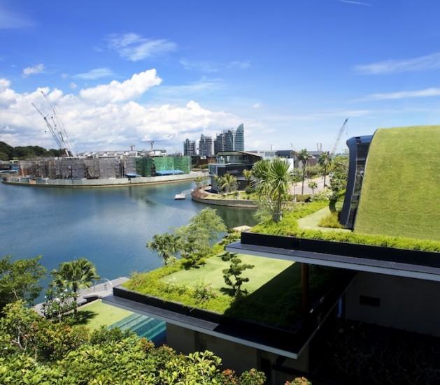 Maison avec toit v g talis for Agrandissement maison zone verte