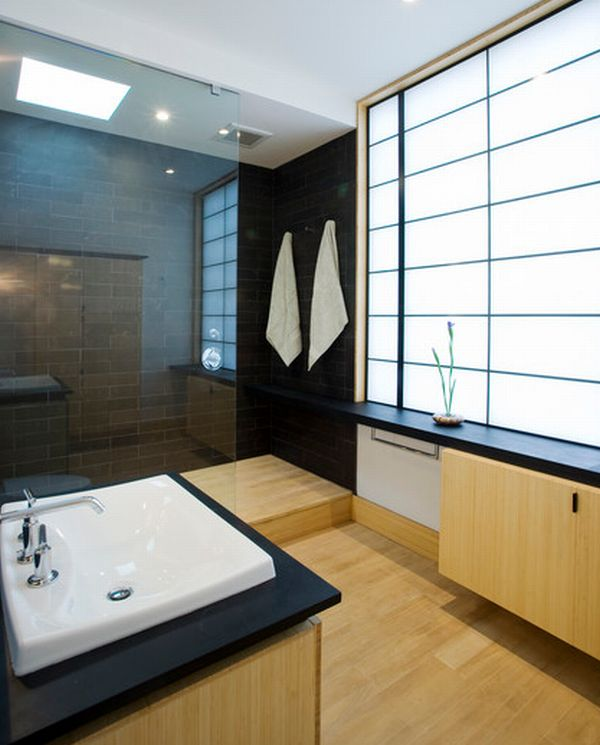 18 id es de salles de bains japonaises l gantes. Black Bedroom Furniture Sets. Home Design Ideas