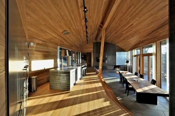 Interieur chalet bois for Chalet bois contemporain