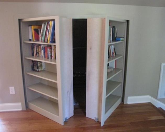 passage secret8. Black Bedroom Furniture Sets. Home Design Ideas