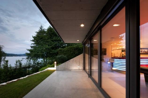 extension contemporaine d 39 une maison en autriche. Black Bedroom Furniture Sets. Home Design Ideas