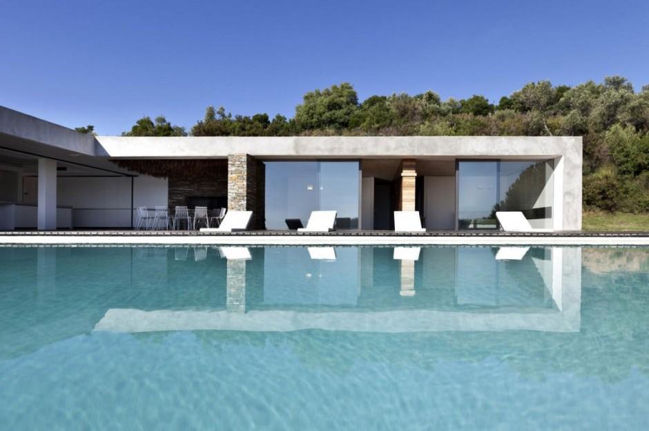 Villa contemporaine grece 03 for Article piscine