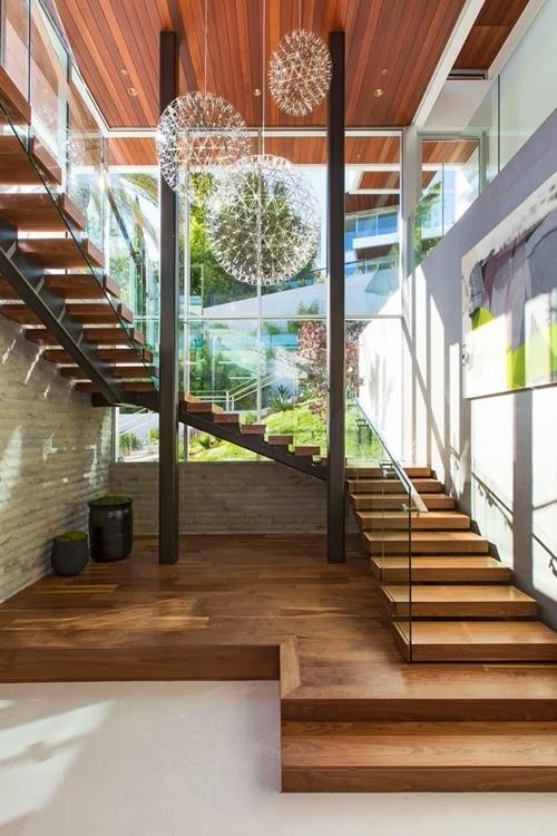Escalier moderne bois 01 - Escalier maison contemporaine ...