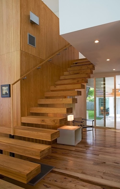 Beautiful Escalier En Bois Moderne Ideas - Sledbralorne.com ...