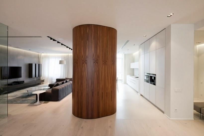 design int rieur minimaliste d 39 un appartement moscou. Black Bedroom Furniture Sets. Home Design Ideas