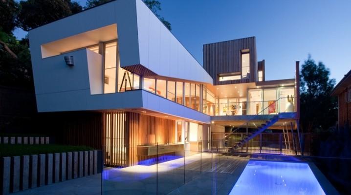 Maison contemporaine en bois sur pilotis - Maison en australie avec vue magnifique sur locean ...