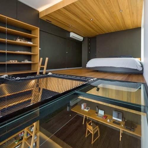 17 exemples de plancher en verre pour maisons modernes. Black Bedroom Furniture Sets. Home Design Ideas