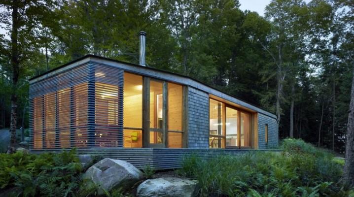 chalet en bois contemporain au canada. Black Bedroom Furniture Sets. Home Design Ideas