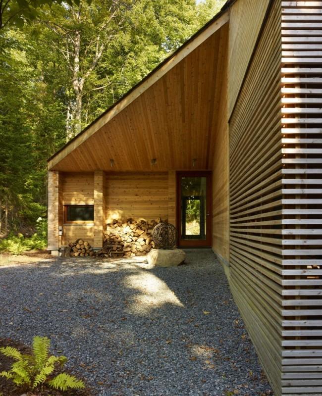 Chalet en bois contemporain au canada for Chalet bois contemporain