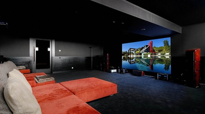 16 id es pour am nager et d corer votre home cinema. Black Bedroom Furniture Sets. Home Design Ideas