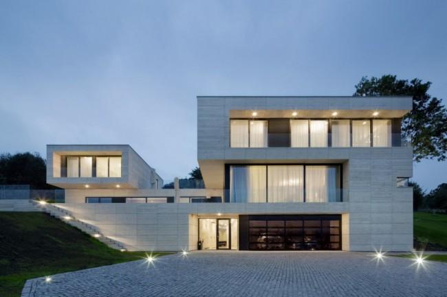 villa moderne en r publique tcheque. Black Bedroom Furniture Sets. Home Design Ideas