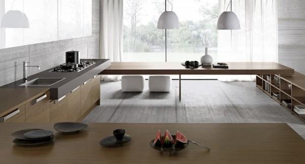 Id es pour une cuisine design et minimaliste for Rangement maison minimaliste