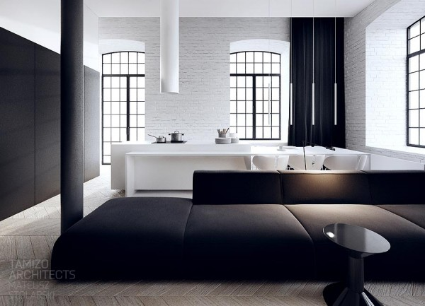 interieur design noir blanc 02. Black Bedroom Furniture Sets. Home Design Ideas