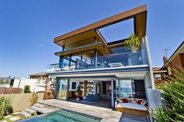 Maison contemporaine perch e au bord de l 39 oc an pacifique - Maison en australie avec vue magnifique sur locean ...