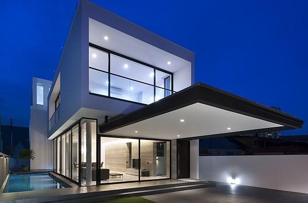 Maison design minimaliste de Park+Associates