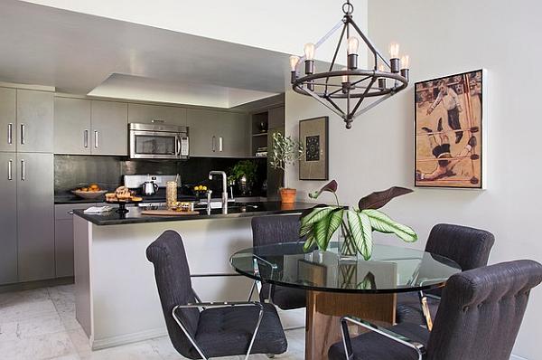 Id es pour am nager votre salle manger dans un petit espace for Idee decoration salle a manger