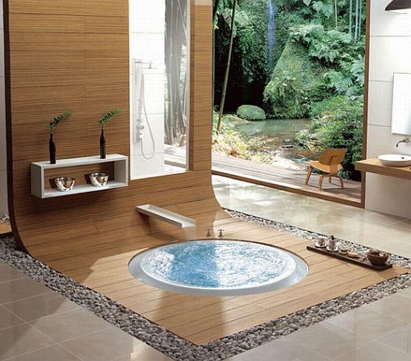 Jacuzzi enterre salle de bain for Salle de bain jacuzzi