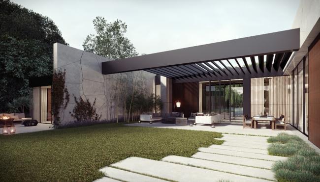 Maison contemporaine zen et pittoresque - Jardines exteriores de casas modernas ...