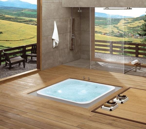 Salle de bain avec petit jacuzzi for Articles salle de bain design