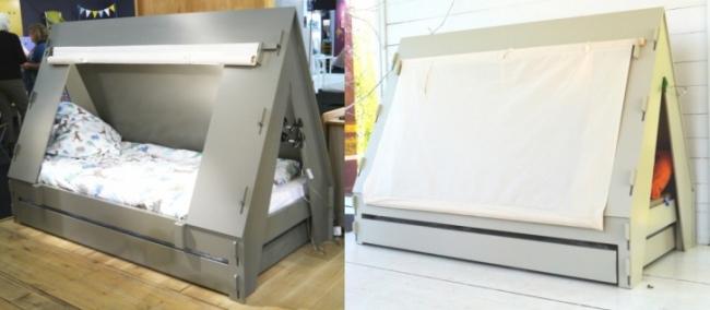 lit tente enfant. Black Bedroom Furniture Sets. Home Design Ideas