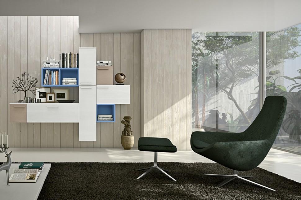 meuble rangement mural colombini casa 24. Black Bedroom Furniture Sets. Home Design Ideas