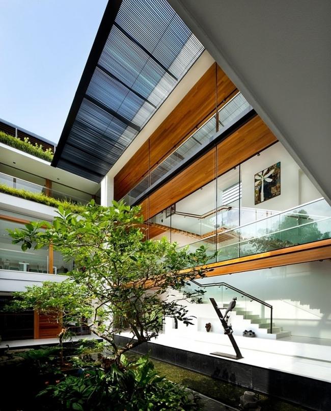 R sidence contemporaine d 39 inspiration tropicale singapour - Architecture contemporaine residence parks ...