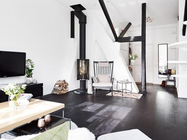loft deco scandinave 04. Black Bedroom Furniture Sets. Home Design Ideas