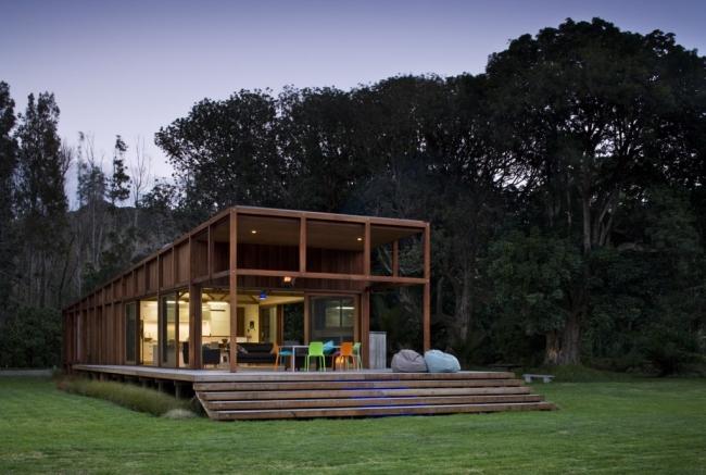 maison en bois nergie solaire. Black Bedroom Furniture Sets. Home Design Ideas