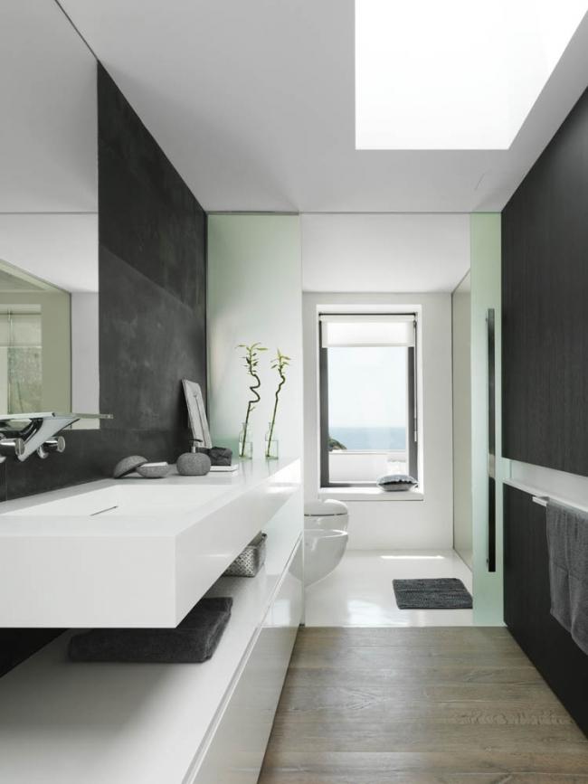 Maison contemporaine blanche avec bardage bois for Maison contemporaine italienne