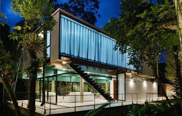 Maison design dans la for t tropicale for Maison archi foret
