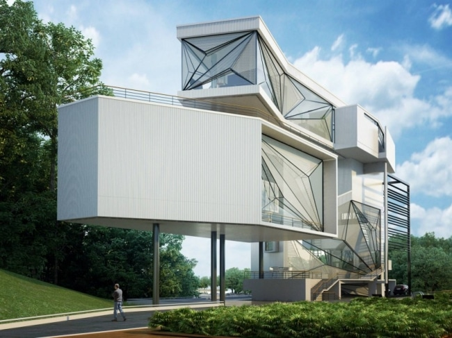 Maison futuriste 02 for Architecture futuriste