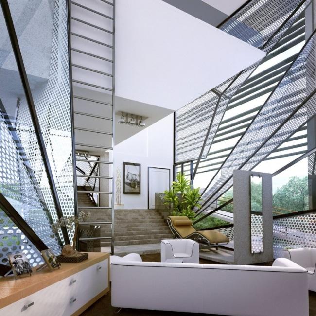 Maison futuriste 06 for Architecture futuriste