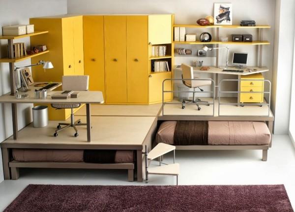 optimiser la place dans un petit appartement. Black Bedroom Furniture Sets. Home Design Ideas