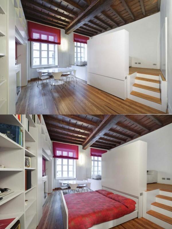 optimisation espace appartement 16. Black Bedroom Furniture Sets. Home Design Ideas