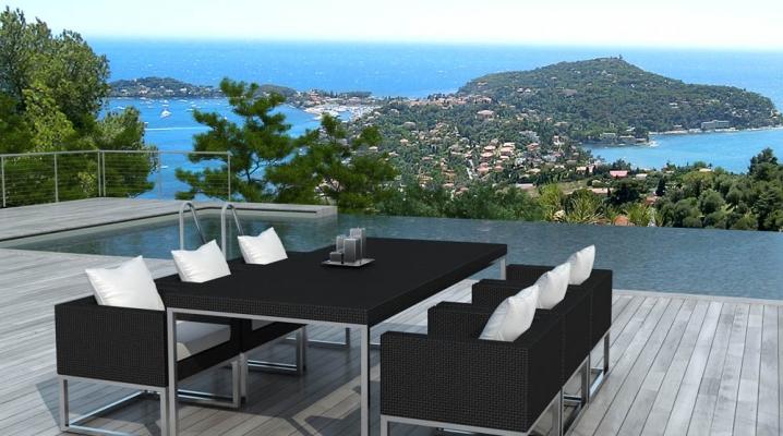 Id es d co tables de jardin terrasses salons de jardin for Salon de jardin contemporain