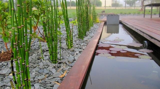 cr er un bassin contemporain dans votre jardin. Black Bedroom Furniture Sets. Home Design Ideas