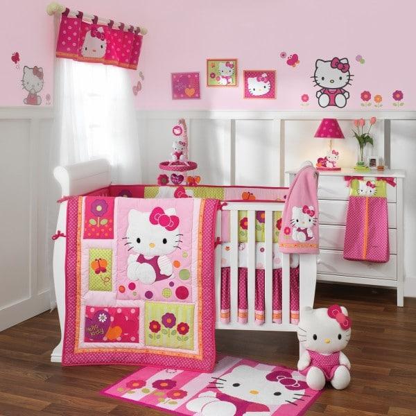 decoration chambre bebe hello kitty. Black Bedroom Furniture Sets. Home Design Ideas